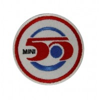 0260 Patch emblema bordado 7x7 MINI 50 ANOS