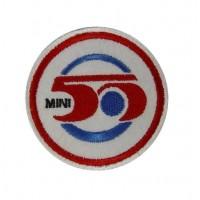 Patch emblema bordado 7x7 MINI 50 ANOS