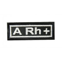 0201 Embroidered patch 6x2.3 sanguine type A Rh +