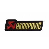 1826 Embroidered sew on patch 10x3 AKRAPOVIC