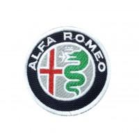 1827 Patch emblema bordado 7x7 ALFA ROMEO logo 2015