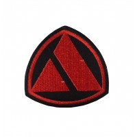 1830 Embroidered patch 7x7 AUTOBIANCHI red