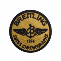 1836 Embroidered patch sew on 7x7 BREITLING SWISS CHRONOGRAPHS 1884