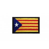 1837 Embroidered patch 6X3,7 CATALAN FLAG