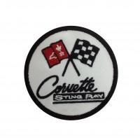 1838 Patch emblema bordado 7x7 CHEVROLET CORVETTE STING RAY