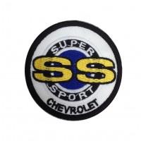 1839 Patch emblema bordado 7x7 CHEVROLET SS SUPER SPORT