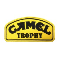 0038 Patch emblema bordado 20x10 CAMEL TROPHY preto