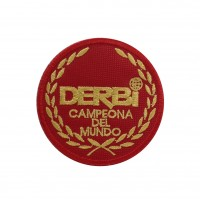 1841 Embroidered patch sew on 7x7 DERBI CAMPEONA DEL MUNDO