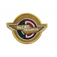 1842 Patch emblema bordado 9x7 DUCATI MECCANICA