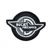 1843 Embroidered patch 9x7 DUCATI MECCANICA black