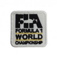 1847 Patch écusson brodé 6X6 FIA F1 FORMULE 1 CHAMPIONNAT DU MONDE