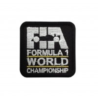 1848 Embroidered sew on patch 6X6 FIA F1 FORMULA 1 WORLD CHAMPIONSHIP