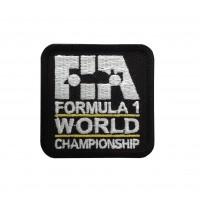 1848 Patch écusson brodé 6X6 FIA F1 FORMULE 1 CHAMPIONNAT DU MONDE