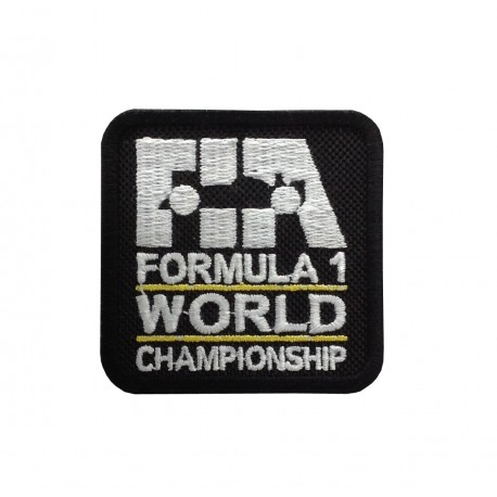 1848 Embroidered sew on patch 6X6 FIA F1 FORMULA 1 WORLD CHAMPIONSHIP