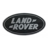0031 Embroidered patch 25x14 LAND ROVER grey