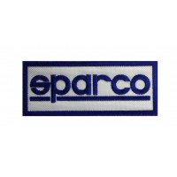 1910 Embroidered patch 10x4 SPARCO white