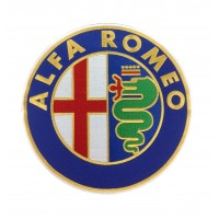 0497 Patch emblema bordado 22x22 ALFA ROMEO