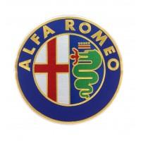 0497 Parche emblema bordado 22x22 ALFA ROMEO
