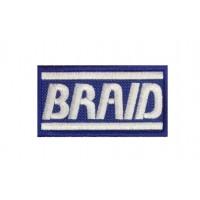 1915 Embroidered patch 7x4 BRAID MOTORSPORT WHEELS