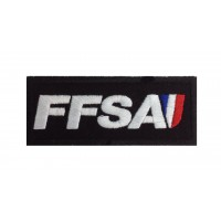 0953 Patch emblema bordado 10x4 FFSA FÉDÉRATION FRANÇAISE SPORT AUTOMOBILE