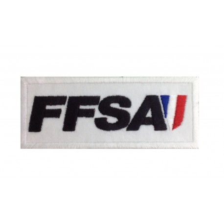 0954 Embroidered patch 10x4 FFSA FÉDÉRATION FRANÇAISE SPORT AUTOMOBILE