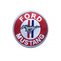1919 Embroidered sew on patch 7x7 FORD MUSTANG