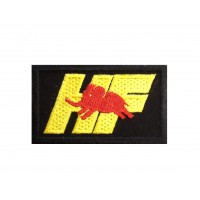 0965 Embroidered patch 7X4.5 HF ELEFANTINO ROSSO LANCIA