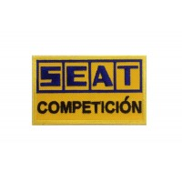 0863 Patch emblema bordado 10x6 SEAT COMPETICIÓN