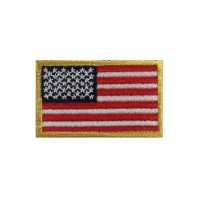0134 Embroidered patch 6X3,7 flag USA
