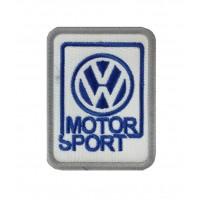 0653 Patch emblema bordado 8x6 VW VOLKSWAGEN MOTORSPORT WRC POLO