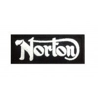 0549 Embroidered patch 10x4 NORTON MOTORCYCLES