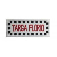 1972 Patch emblema bordado 10x4 TARGA FLORIO ITALIA