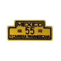 1980 Embroidered patch 10x4 PORSCHE 550 SPYDER 5º CARRERA PANAMERICANA 1954