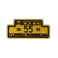 1980 Patch emblema bordado 10x4 PORSCHE 550 SPYDER 5º CARRERA PANAMERICANA 1954