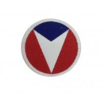 1981 Patch emblema bordado 6X6 TEAM VAILLANTE - MICHEL VAILLANT