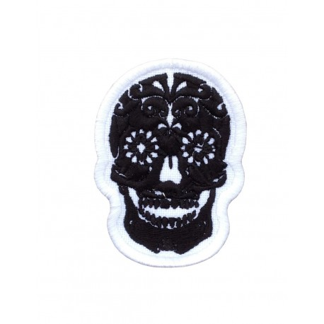 1983 Embroidered patch 7x5 SUGAR SKULL