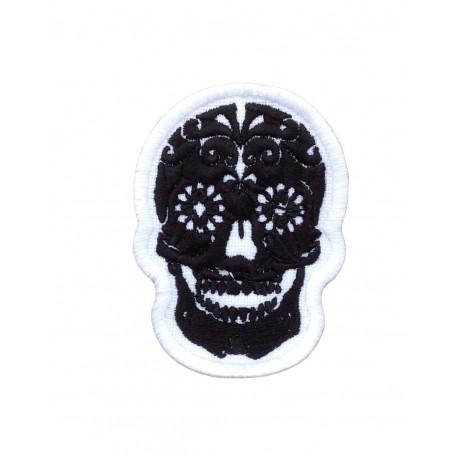 1983 Patch emblema bordado 7x5 SUGAR SKULL