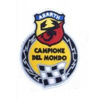 1984 Embroidered patch 10x8 ABARTH CAMPIONE DEL MUNDO
