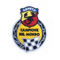 1984 Patch emblema bordado 10X8 ABARTH CAMPIONE DEL MUNDO