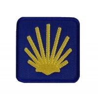 1985 Patch emblema bordado 7x7 CAMINHO DE SANTIAGO DE COMPOSTELA