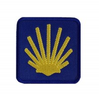 1985 Embroidered patch 7x7 THE WAY OF SAINT JAMES - CAMINO DE SANTIAGO DE COMPOSTELA