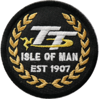 2034 Embroidered patch 7x7 TT ISLE OF MAN