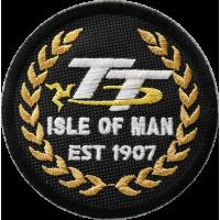 2034 Patch emblema bordado 7x7 TT ISLE OF MAN
