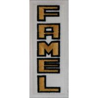 2050 Patch emblema bordado 10x4 FAMEL