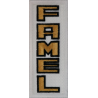 2050 Patch emblema bordado 10x4 FAMEL