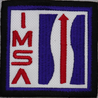 2057 Embroidered patch 6x6 IMSA