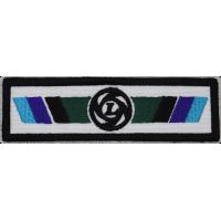 2067 Patch emblema bordado 11X3 LEYLAND