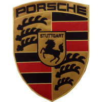 2076 Embroidered patch 35x27 PORSCHE