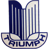 2083 Parche emblema bordado 28x27 TRIUMPH