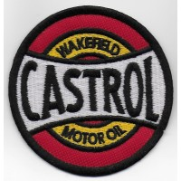 1714 Embroidered sew on patch 7x7 CASTROL WAKEFIELD MOTOR OIL